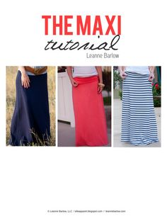 The Maxi Tutorial by Leanne Barlow by LeanneBarlow on Etsy, $12.00