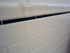 subway tile with pencil tile trim and a bullnose edge finish tile.
