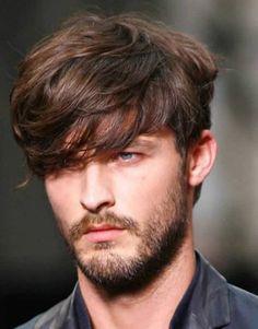 cabelo masculino com franja