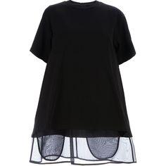 Maison Martin Margiela sheer trim dress found on Polyvore