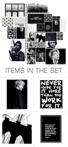 """""""Change / Rap Monster & Wale // Collaboration"""" by phoenix-anastasia ❤ liked on Polyvore featuring art"""