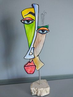 Catawiki, pagina di aste on line Bottoni Umberto - Face - Hobbies paining body for kids and adult Abstract Face Art, Contemporary Abstract Art, Stained Glass Crafts, Stained Glass Patterns, Afrique Art, Cubist Art, Picasso Art, Cardboard Art, Masks Art