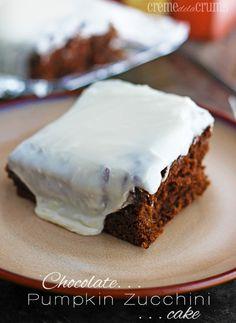 Chocolate Pumpkin Zucchini Cake #pumpkin_desserts #pumpkin_and_chocolate