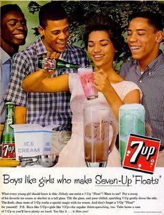 7 Up Advertisement - Ebony Magazine, June, 1960