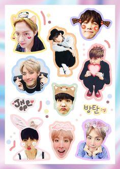 Hoseok you is way to cute Pop Stickers, Tumblr Stickers, Printable Stickers, Hoseok Bts, Bts Bangtan Boy, Jhope, Bts Anime, Kpop Diy, Ideias Diy