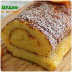 Pinchando en el enlace aprenderás a preparar el brazo de naranja, un brazo de gitano típico portugués muy fácil de preparar y delicioso.
