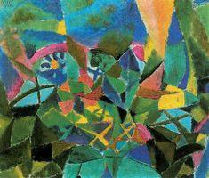 Paul Klee, Bloemenbed, olieverf op karton, x cm Kandinsky, Illustrations, Illustration Art, Paul Klee Art, Arte Tribal, Modern Art Paintings, Indian Paintings, Art Graphique, Henri Matisse