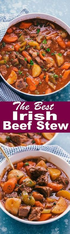 The Best Irish Beef Stew comes with the most robust and sensational flavors. Built around tender chunks of boneless beef chuck, baby potatoes, and chunky vegetables then simmered with a hearty gravy you will just love. #irishbeefstew #guinness #beefstew #stpatricksday #IrishFood #food #recipes #thefoodcafe #IGuinnessBeefstew