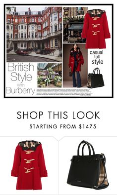 """""""British style with Burberry"""" by veronababy ❤ liked on Polyvore featuring Burberry"""