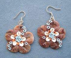 Flowers Earrings Polymer Clay Uniqu.. on Luulla