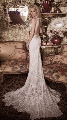 naama-anat-fall-2016-bridal-dresses-beautiful-sheath-wedding-dress-lace-strap-v-neckline-lace-bodice-style-gorgeous-open-low-back