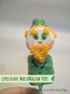 Pams Party & Practical Tips: Leprechaun Marshmallow Pops
