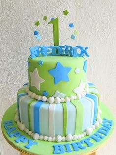 Simple Birthday Cake Designs For Baby Boy : Boys First Birthday Party on Pinterest Boy First ...