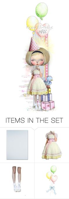 """Happy Birthday Ali"" by mrsgena ❤ liked on Polyvore featuring art, happybirthday, polyvoreeditorial, dilkabear and alicja2204"