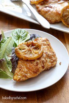 Lemon-pepper skillet chicken recipe from @bakedbyrachel Have dinner on the table in under 20 minutes!