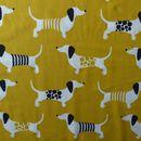 Stoff Tiermotive - Bio Jersey Dackel safrangelb Nosh Organics - ein Designerstück von stoffbuero bei DaWanda