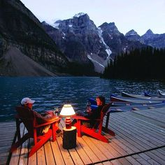 Moraine Lake Lodge in Banff, AB, Canada. The Moraine Lake Lodge offers some of the most breathtaking views in Canada. Included with the stay are guided hiking tours and canoeing in the beautiful Moraine Lake. Best part: not a crowd in sight!