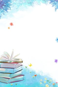 423 World Book Day Reading Reading Poster Background Design, Powerpoint Background Design, Cartoon Background, Kids Background, Flower Background Wallpaper, Flower Backgrounds, Wallpaper Backgrounds, Boarder Designs, Page Borders Design