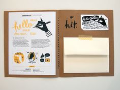 Self promotion idea.  Nicely done - press kit by Idlewild Co.