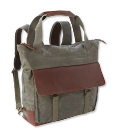 Heritage Waxed Canvas Pack, Tote - LL Bean Intl