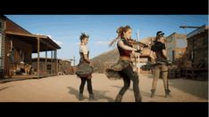 "But he�s no match for Stirling and her band of dancing damsels. | Premiere: Lindsey Stirling Gets Wild In The West For Her ""Roundtable Rival"" Video"