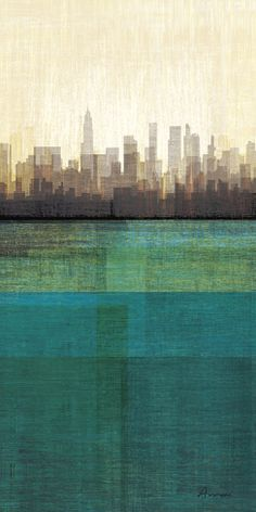Metropolitan Jewel-Box, Emerald Print by Amori at Art.com - for nyc skyline cross stitch on box