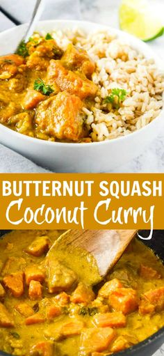 Butternut Squash Coconut Curry is one of the easiest quickest and most tasty dishes that you can prepare in under 30 minutes. Butternut Squash Coconut Curry is one of the easiest quickest and most tasty dishes that you can prepare in under 30 minutes. Curry Recipes, Vegetarian Recipes, Healthy Recipes, Healthy Meals, Indian Food Recipes, Whole Food Recipes, Cooking Recipes, Cooking Bacon, Recipes
