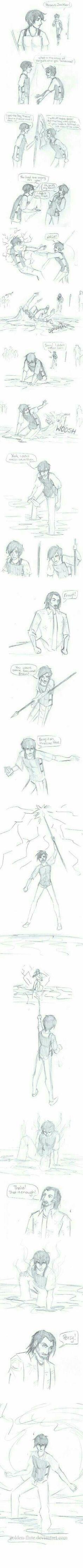 Percy and Thalia's fight in Titan's Curse