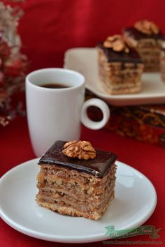 Romanian Desserts, Romanian Food, Desserts To Make, Dessert Recipes, Tasty, Yummy Food, Something Sweet, Cake Cookies, Food Inspiration