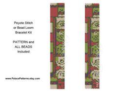 NP9 Bracelet Kit for Peyote Stitch or Bead Loom от PalacePatterns