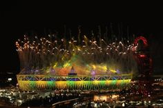A view of the Olympic Stadium during the closing ceremony.