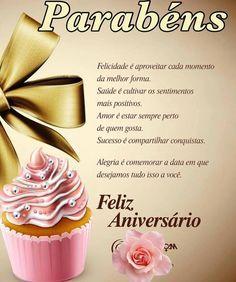 Felicidade é aproveitar cada momento da melhor forma #felicidades #feliz_aniversario #parabens Happy Bday Wishes, Happy Birthday Sms, Birthday Menu, Birthday Messages, Birthday Images, Birthday Greetings, Happy B Day, Wedding Anniversary, Birthdays
