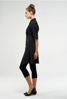 Moderna long tunic / dress with leggings. Leggings- absolutely:)