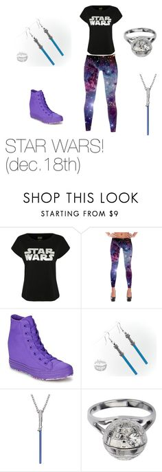 """STAR WARS PREMIER"" by maddieliam ❤ liked on Polyvore featuring George and Converse"