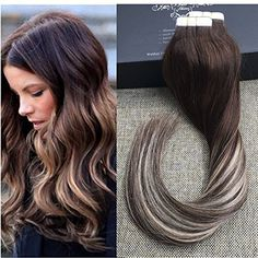 Clip-in Full Head Hair Extensions Spirited Full Shine Double Weft Clip In Hair Extensions Brown Roots Ombre Color 7b Fading To 613 100g 10pcs Balayage Hair Clip Ins