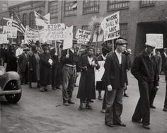Unemployed march, Pine Street, during Great Depression. Photograph by Ralph A. Ross, 1931. Missouri History Museum.