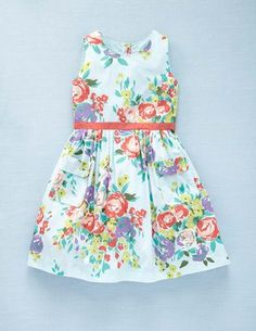 Couldn't resist using my coupon to buy this dress.  Love the palette of pale blue with pops of color.