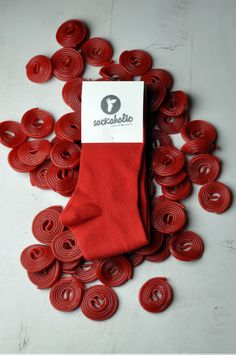 Red #sockaholic #socks #feelthecolor #rojo #color #cool #candy #sweet