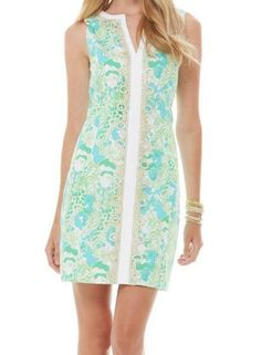 Lilly Pulitzer Janice Shift Dress in Limeade Its A Zoo