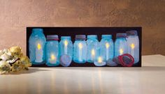 38421 - Lighted Row of Canning Jars Canvas