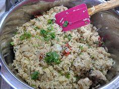 Briyani Recipe, Dum Biryani, Coriander Powder, Green Chilli, Fennel Seeds, Marinated Chicken, Fried Rice, Spicy, Grains