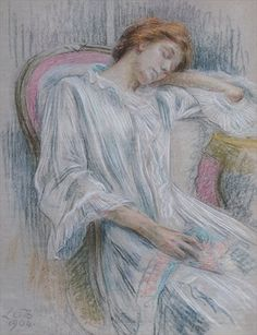 Young Woman Asleep in a Chair - Marie Louise Catherine Breslau