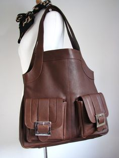 leather pocket bag, etsy.