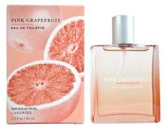 Bath & Body Works Luxuries Pink Grapefruit Eau de Toilette 1.7 oz Bath & Body Works. Discontinued in stores.  http://www.amazon.com/Bath-Body-Works-Luxuries-Grapefruit/dp/B001D0KVIW/ref=sr_1_4?m=A114766GYOFPA1&s=merchant-items&ie=UTF8&qid=1386097399&sr=1-4&keywords=pink+grapefruit