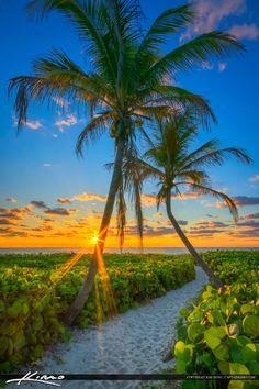 Delray Beach Florida Sunrise at Beach