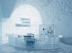 Ice Hotel in Sweden (specifically the Absolut Ice Bar). Lappland, Ice Hotel Quebec, Ice Hotel Sweden, Winter Wedding Destinations, Travel Destinations, Holiday Destinations, Destin Hotels, Ice Bars, Ice Castles