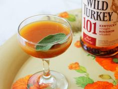 Turkey and Sage Cocktail | made with pumpkin butter and Wild Turkey