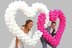 De ballonnenboog die we hadden gehuurd was ook groot succes bij het foto's maken!