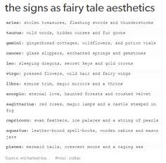 your zodiac sign as fairy tale stuff