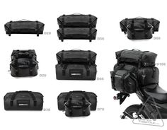 DrySpec™ D20 Waterproof Motorcycle Drybag Saddle Bag System in Black, Grey & Orange